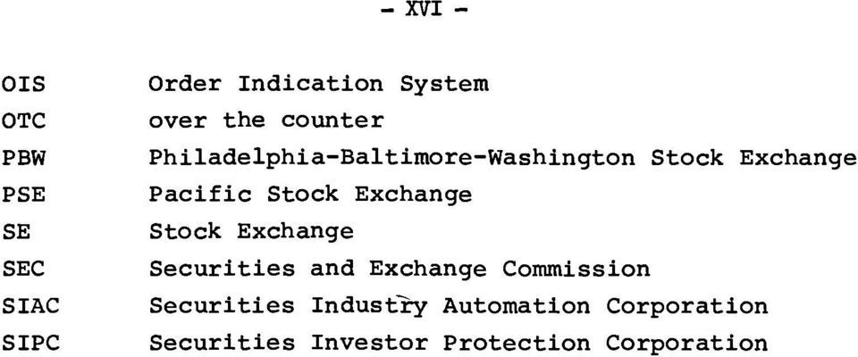 Stock Exchange Stock Exchange Securities and Exchange Commission