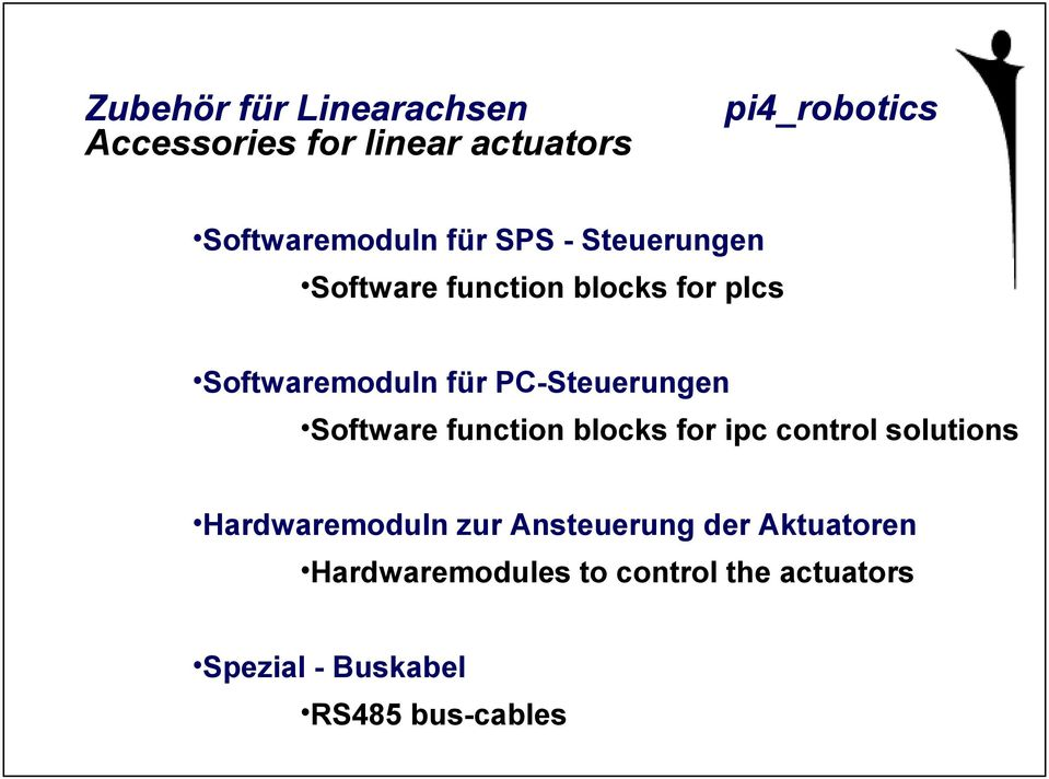 Software function blocks for ipc control solutions Hardwaremoduln zur Ansteuerung