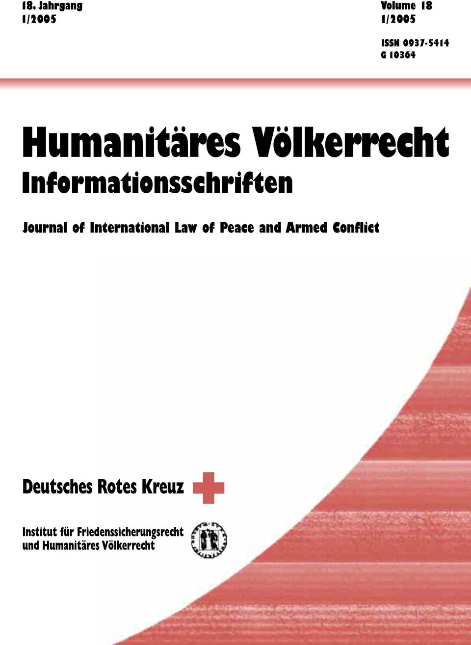 International Law of Peace and Armed Conflict Deutsches Rotes