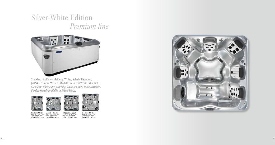 Further models available in Silver/White. Modell Model A5L.