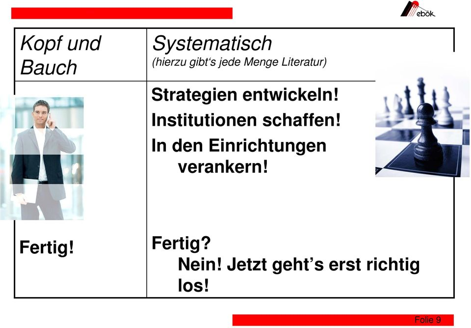 Institutionen schaffen!