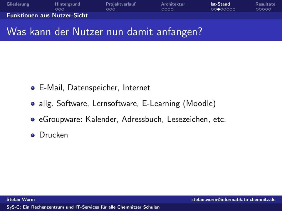 Software, Lernsoftware, E-Learning (Moodle)