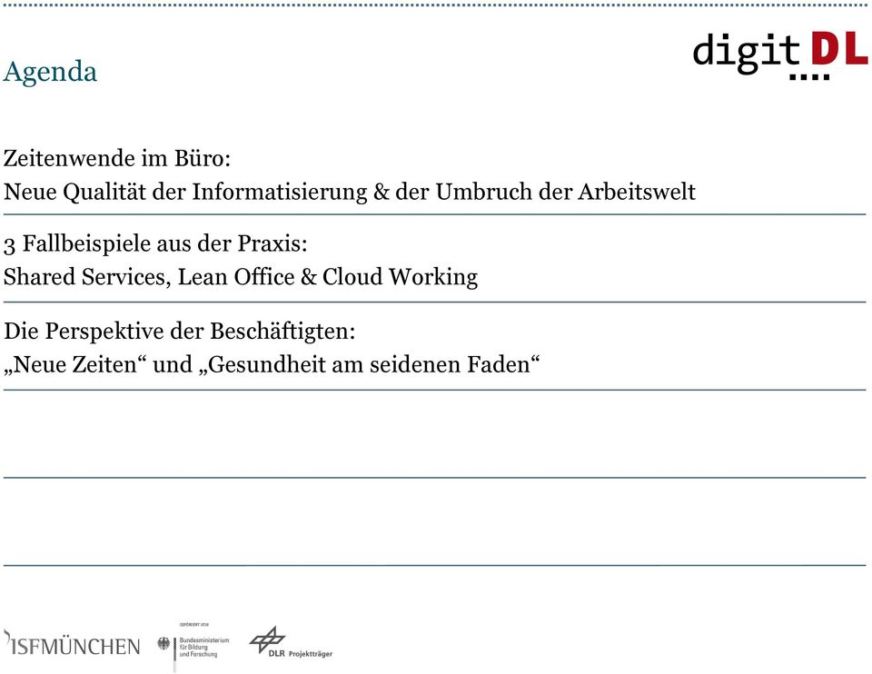 Shared Services, Lean Office & Cloud Working Die Perspektive