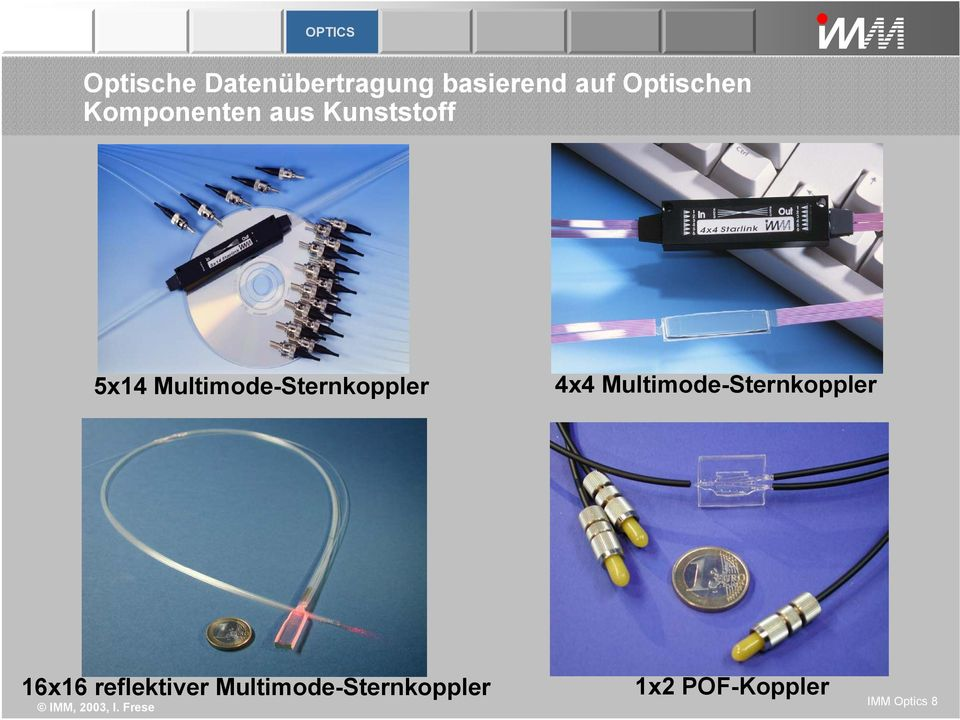 Multimode-Sternkoppler 4x4 Multimode-Sternkoppler