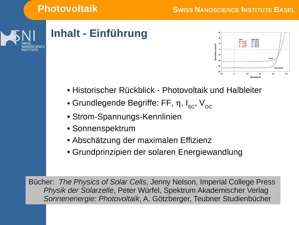 solaren Energiewandlung Bücher: The Physics of Solar Cells, Jenny Nelson, Imperial College Press