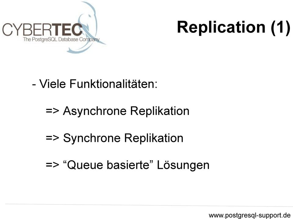 Asynchrone Replikation =>