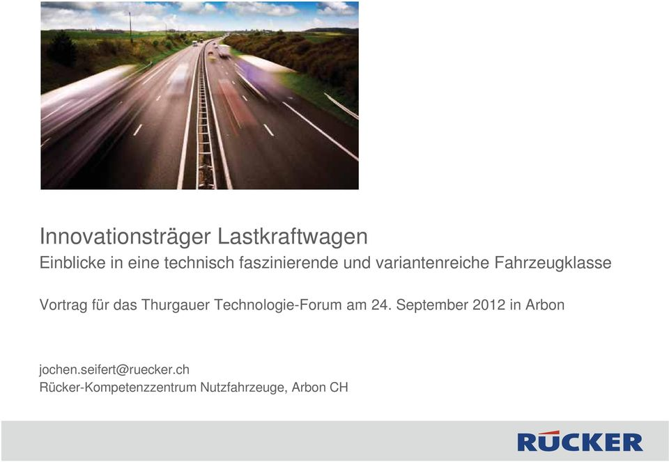 Thurgauer Technologie-Forum am 24.
