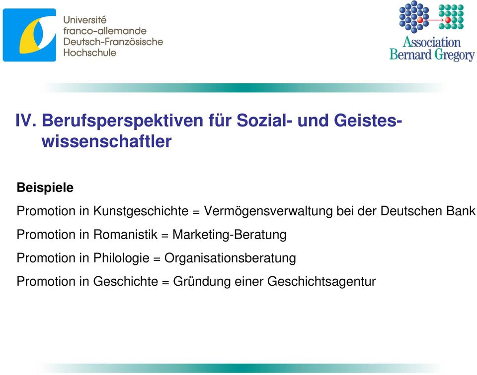 Promotion in Romanistik = Marketing-Beratung Promotion in Philologie =