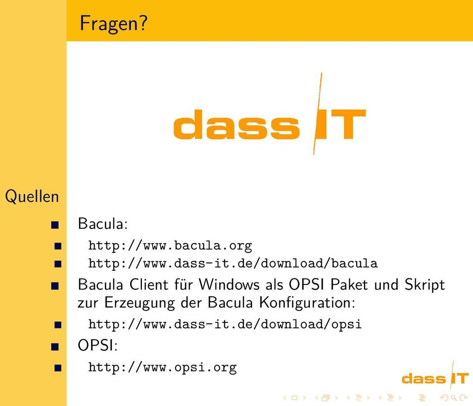 de/download/bacula Bacula Client für Windows als OPSI Paket