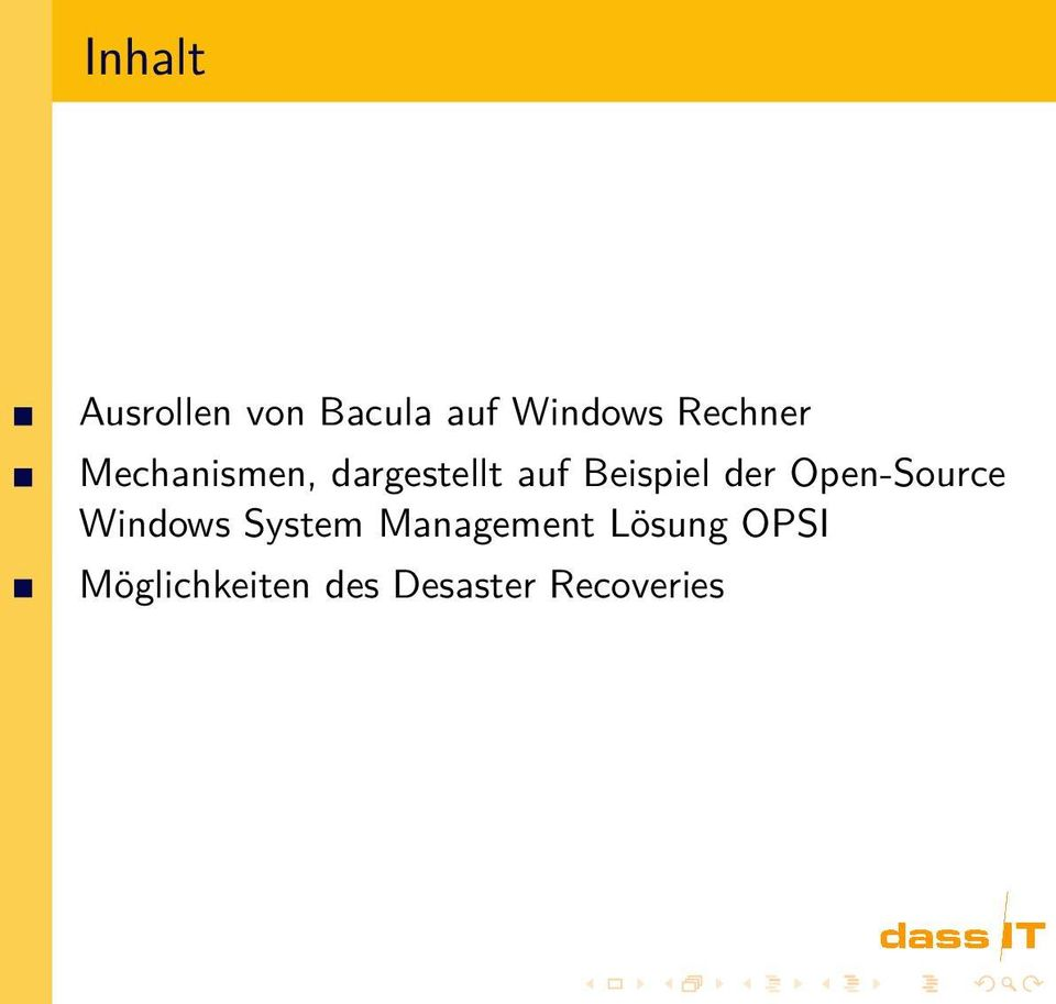 Beispiel der Open-Source Windows System