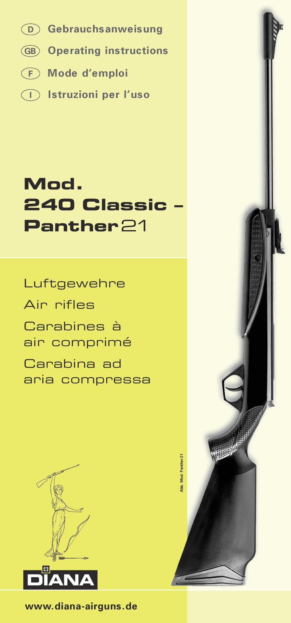 240 Classic Panther 21 Luftgewehre Air rifles Carabines à