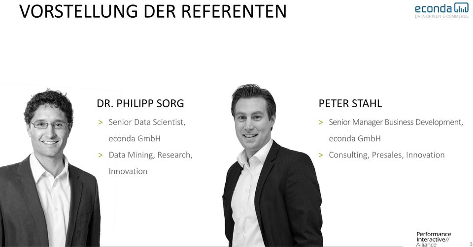 Data Mining, Research, Innovation PETER STAHL >