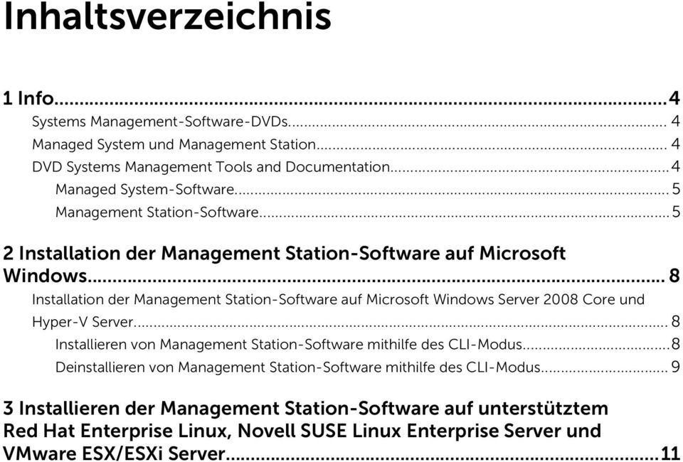 .. 8 Installation der Management Station-Software auf Microsoft Windows Server 2008 Core und Hyper-V Server.