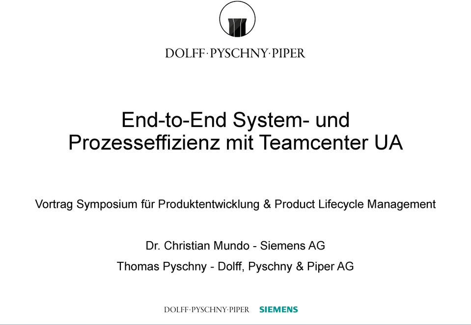 Produktentwicklung & Product Lifecycle Management