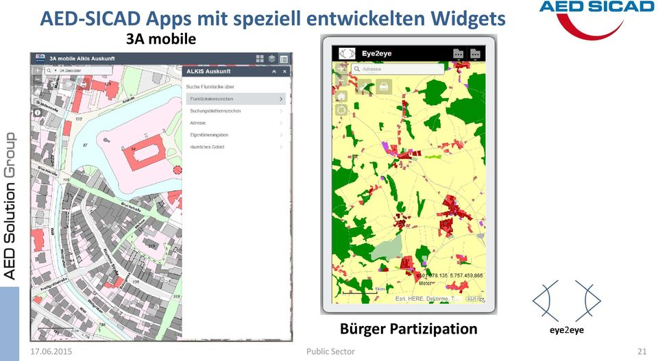 Widgets 3A mobile Bürger