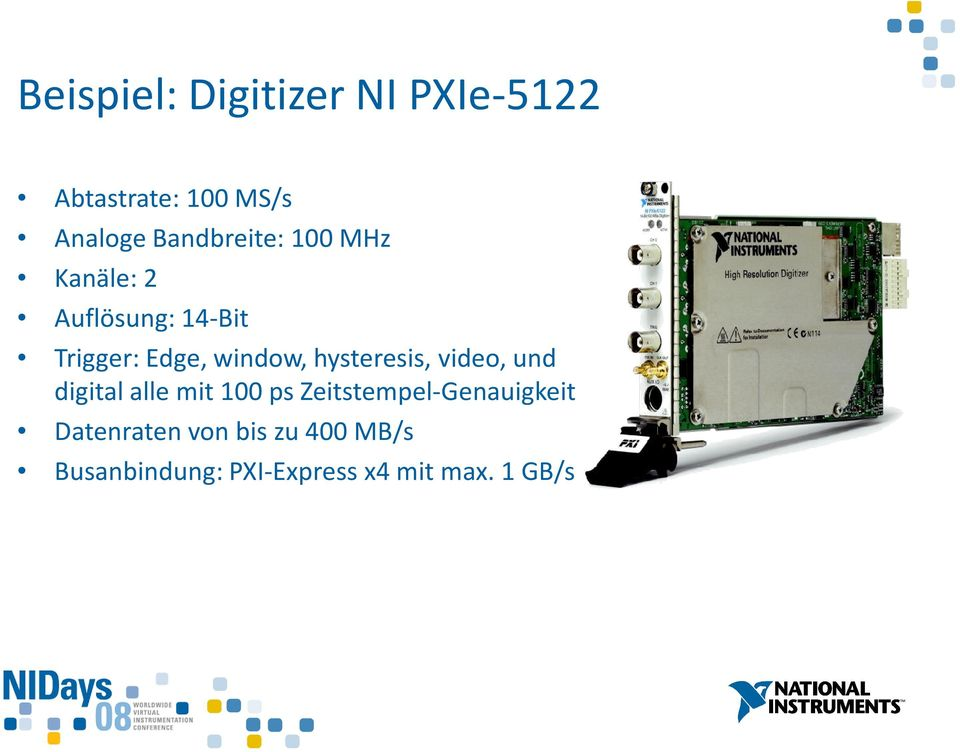 window, hysteresis, video, und digital alle mit 100 ps