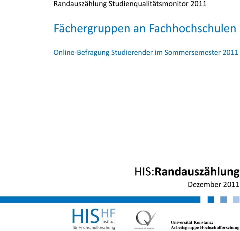 Sommersemester 2011 HIS:Randauszählung