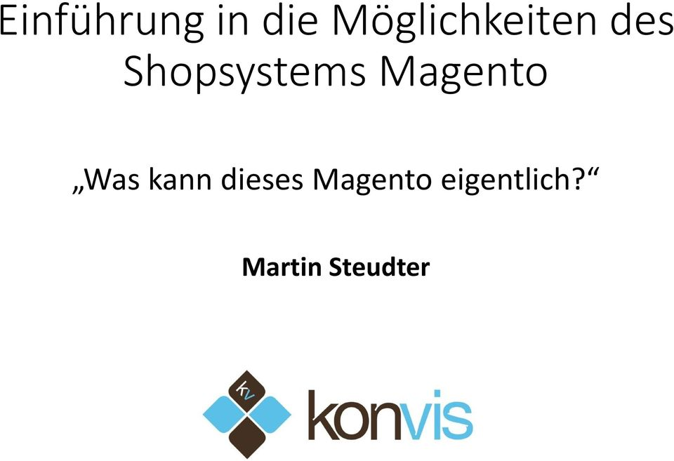 Shopsystems Magento Was