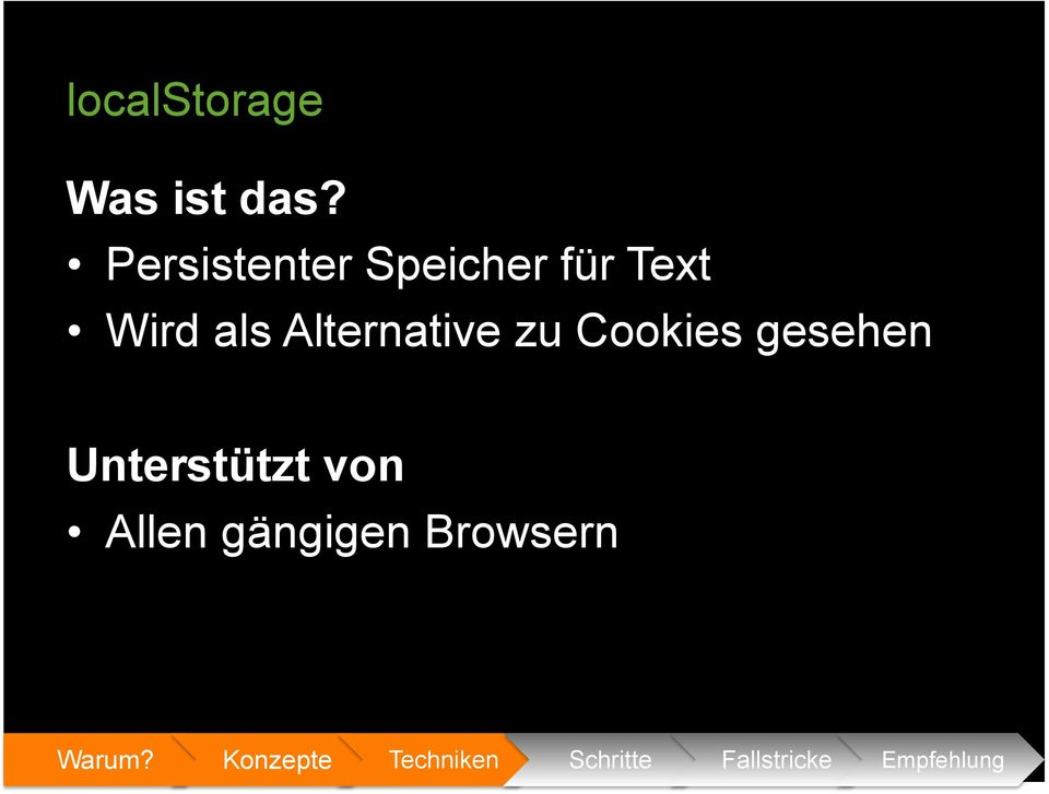 Wird als Alternative zu Cookies