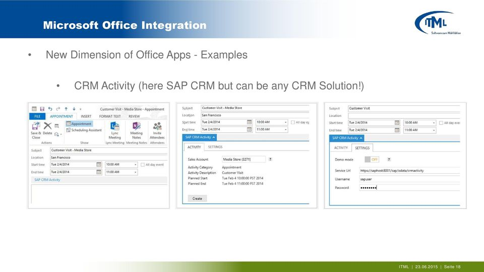 CRM Activity (here SAP CRM but can be