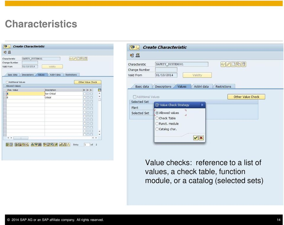 module, or a catalog (selected sets) 2014 SAP