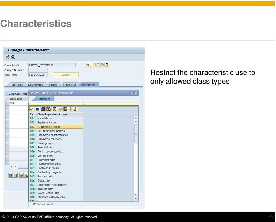 class types 2014 SAP AG or an SAP