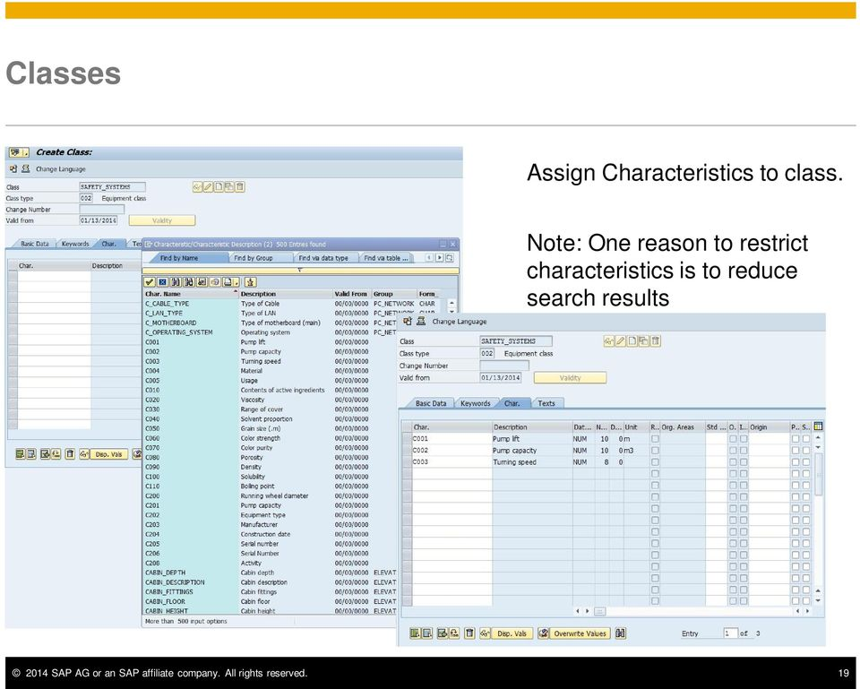 is to reduce search results 2014 SAP AG or