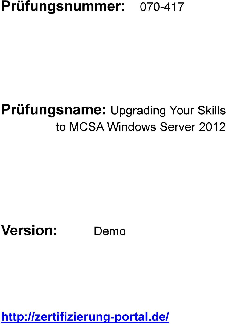 Skills to MCSA Windows Server