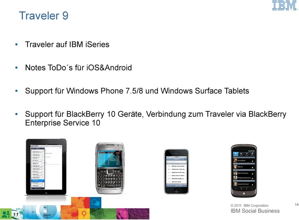 5/8 und Windows Surface Tablets Support für BlackBerry 10