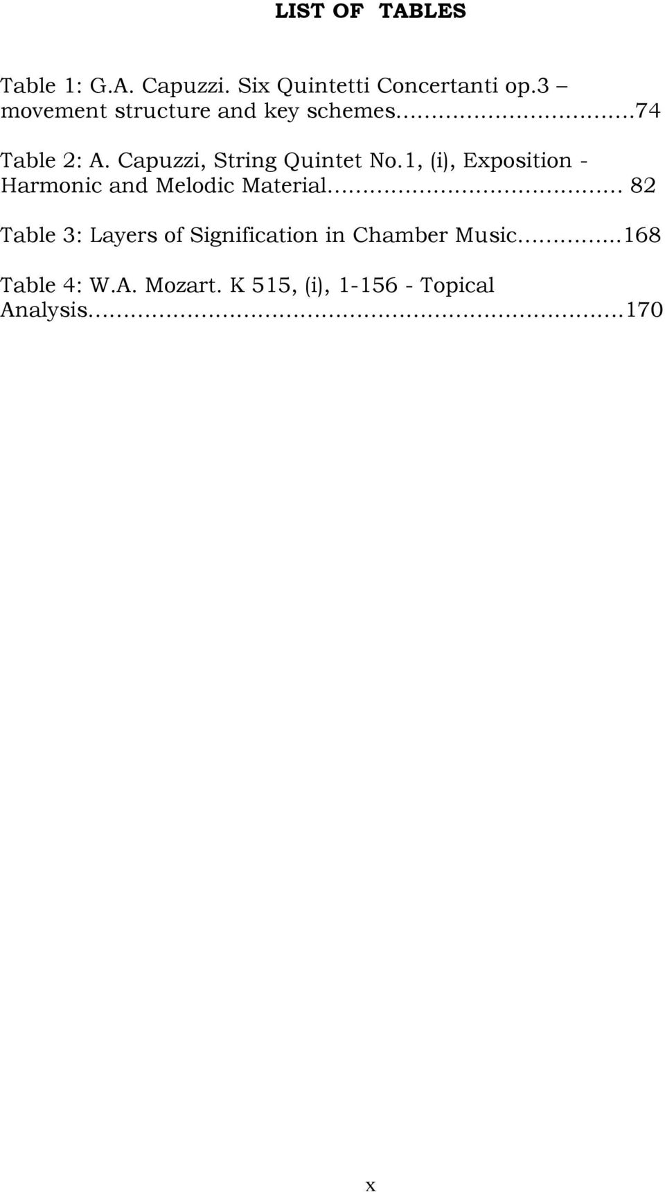 1, (i), Exposition - Harmonic and Melodic Material 82 Table 3: Layers of