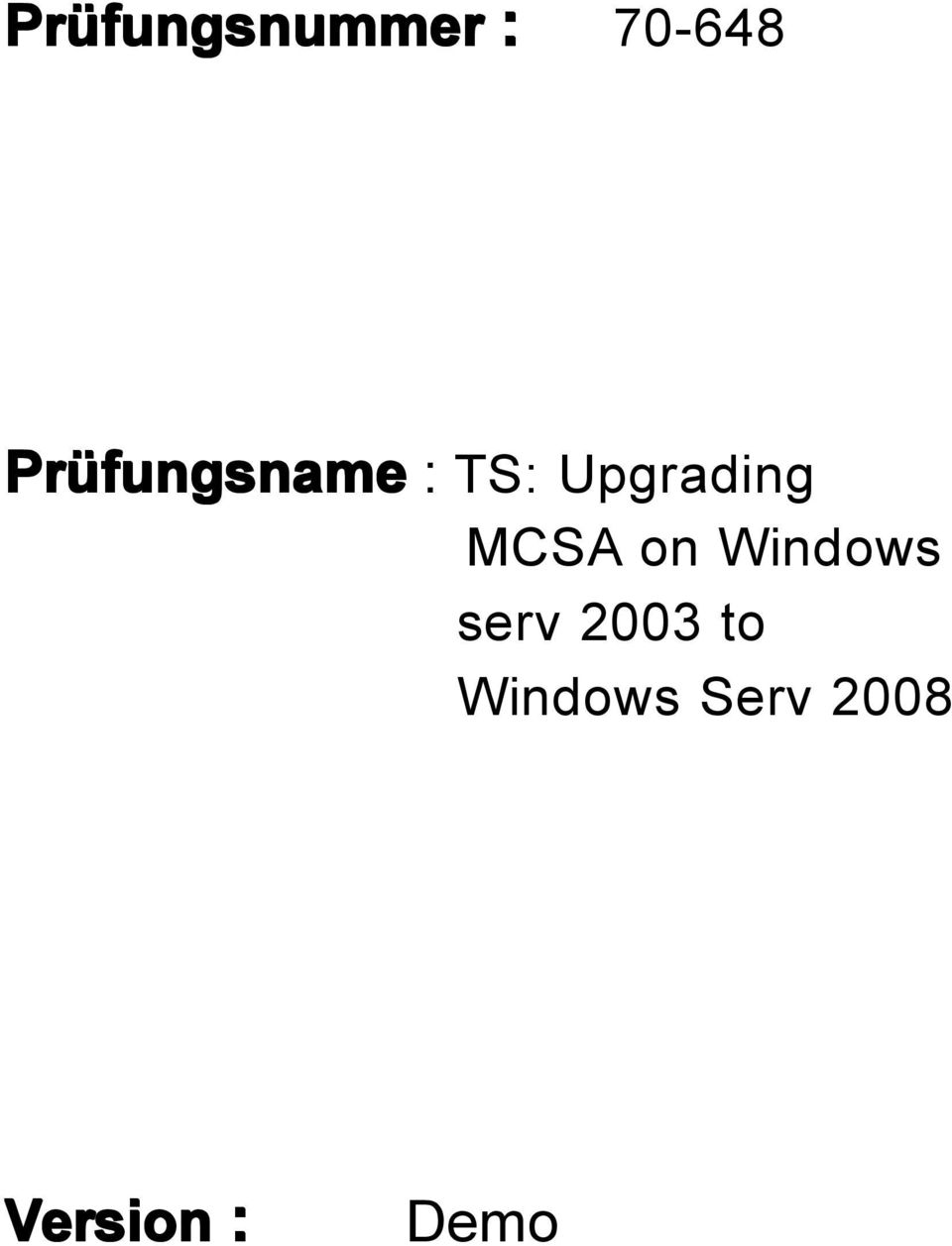 MCSA on Windows serv 2003 to
