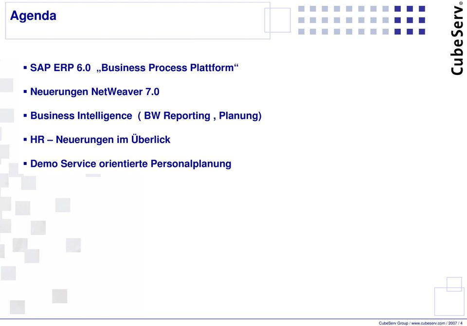0 Business Intelligence ( BW Reporting, Planung) HR