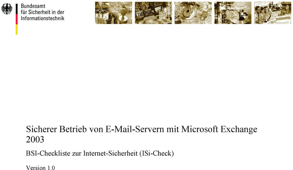 Exchange 2003 BSI-Checkliste