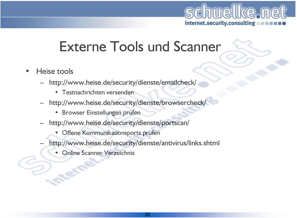 de/security/dienste/browsercheck/ Browser Einstellungen prüfen http://www.heise.