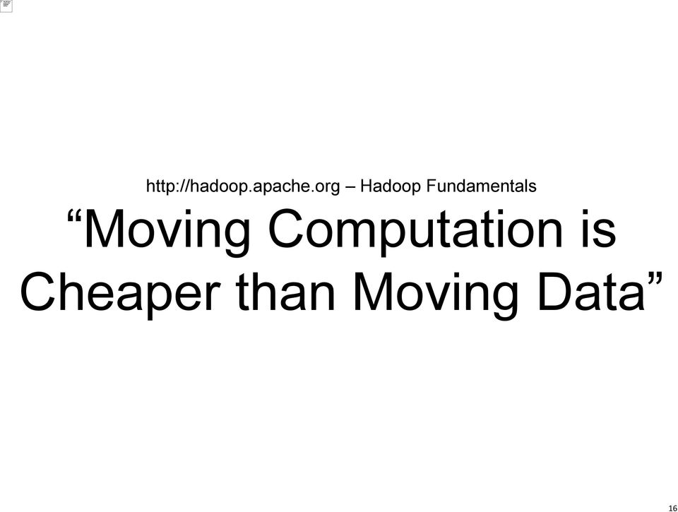 Moving Computation is