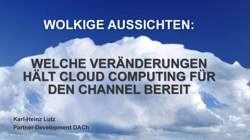 COMPUTING FÜR DEN CHANNEL