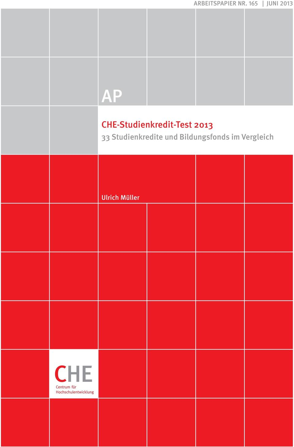 CHE-Studienkredit-Test 2013 33