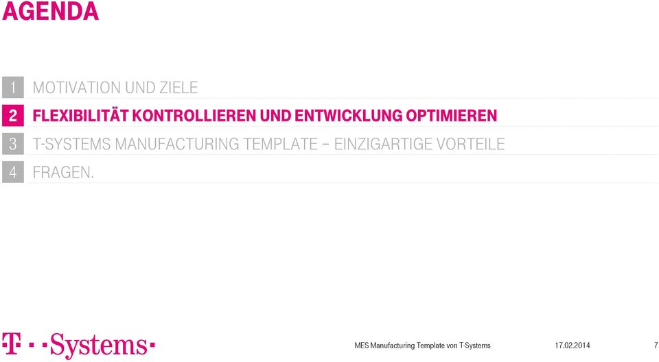 Entwicklung Optimieren 3 T-Systems