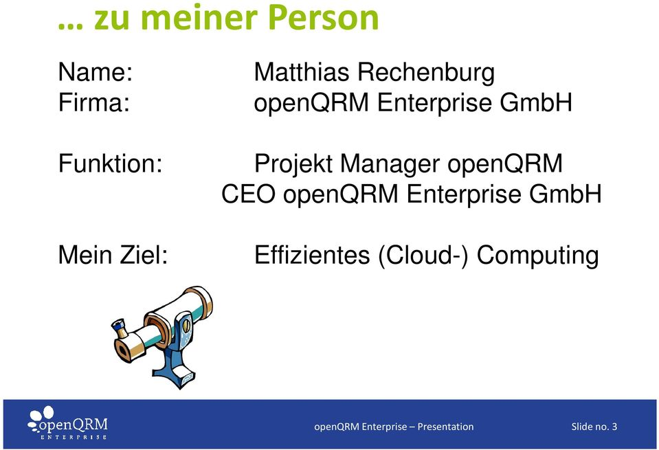 Manager openqrm CEO openqrm Enterprise GmbH Effizientes