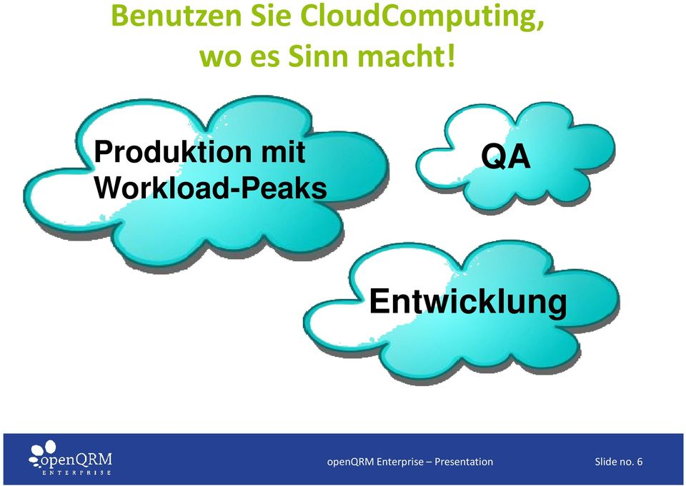 Produktion mit Workload-Peaks QA