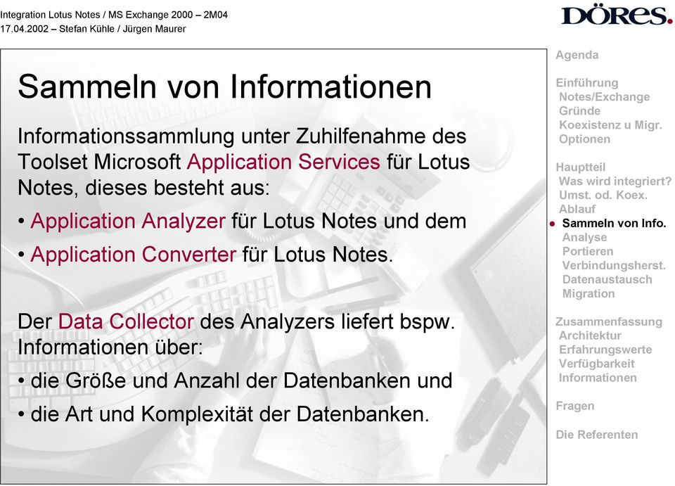 dem Application Converter für Lotus Notes.