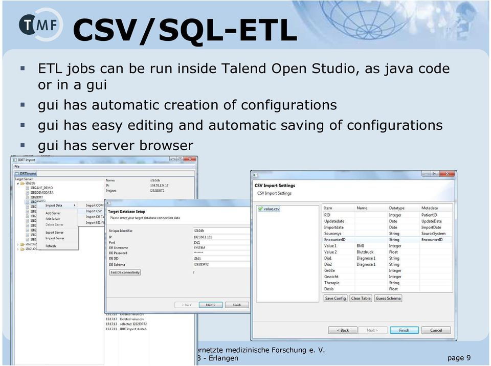 easy editing and automatic saving of configurations gui has server