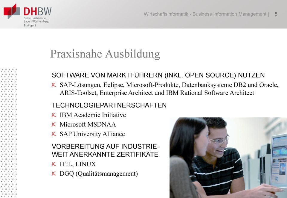 Enterprise Architect und IBM Rational Software Architect TECHNOLOGIEPARTNERSCHAFTEN IBM Academic Initiative