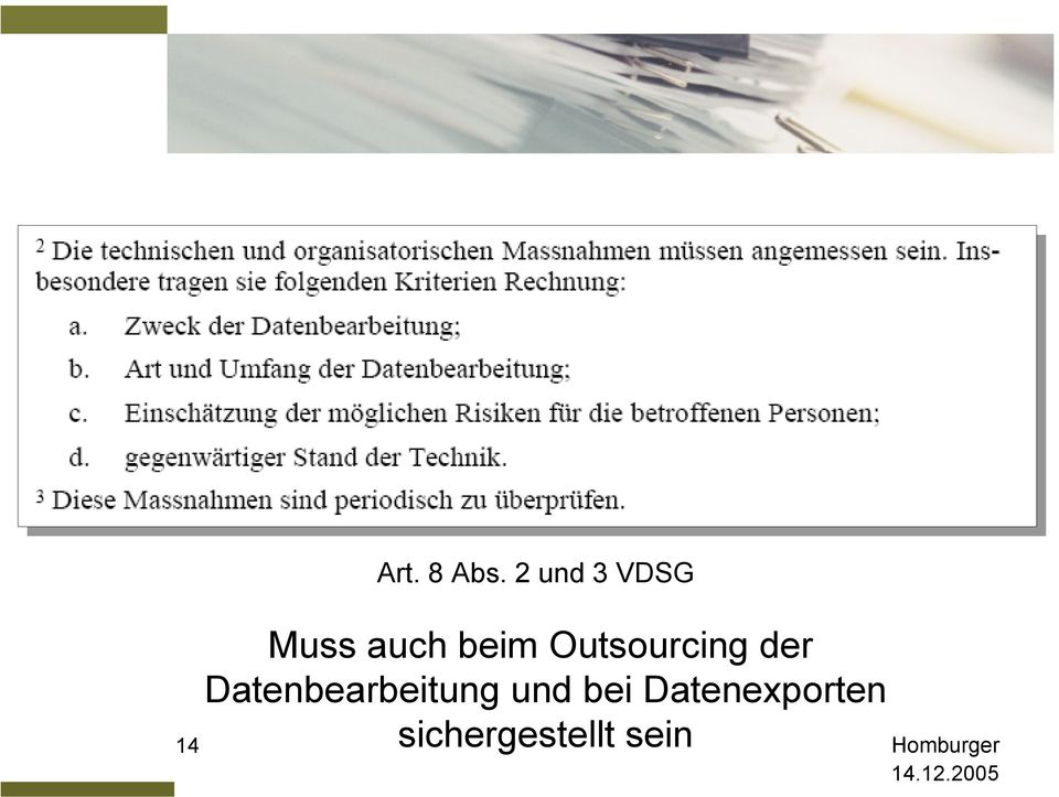 Outsourcing der