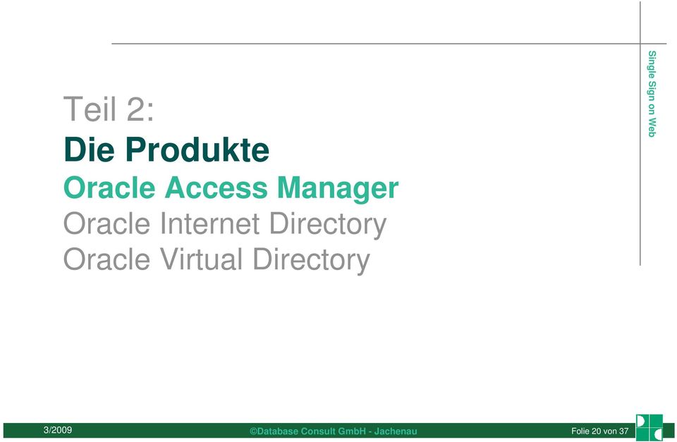 Internet Directory Oracle