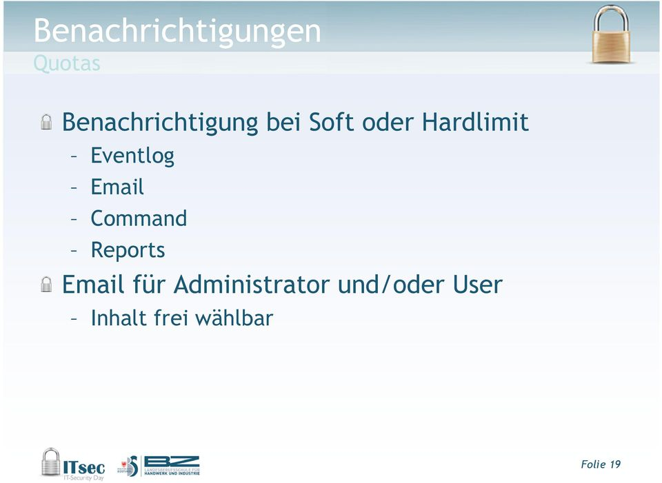 Eventlog Email Command Reports Email für