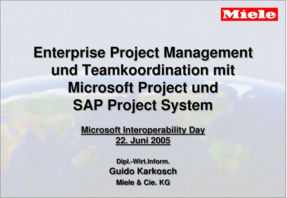 Project System Microsoft Interoperability Day