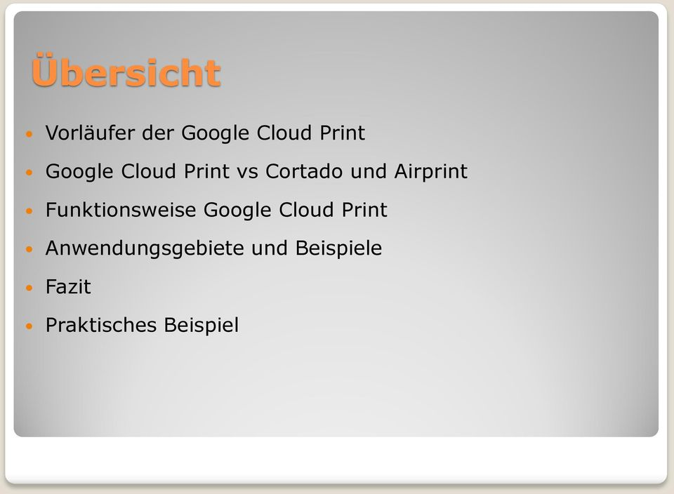 Funktionsweise Google Cloud Print