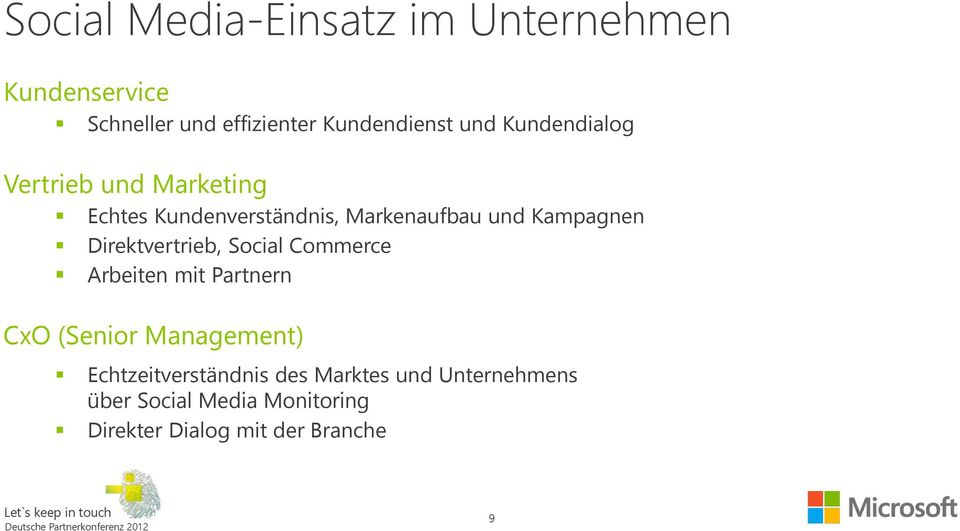 Direktvertrieb, Social Commerce Arbeiten mit Partnern CxO (Senior Management)