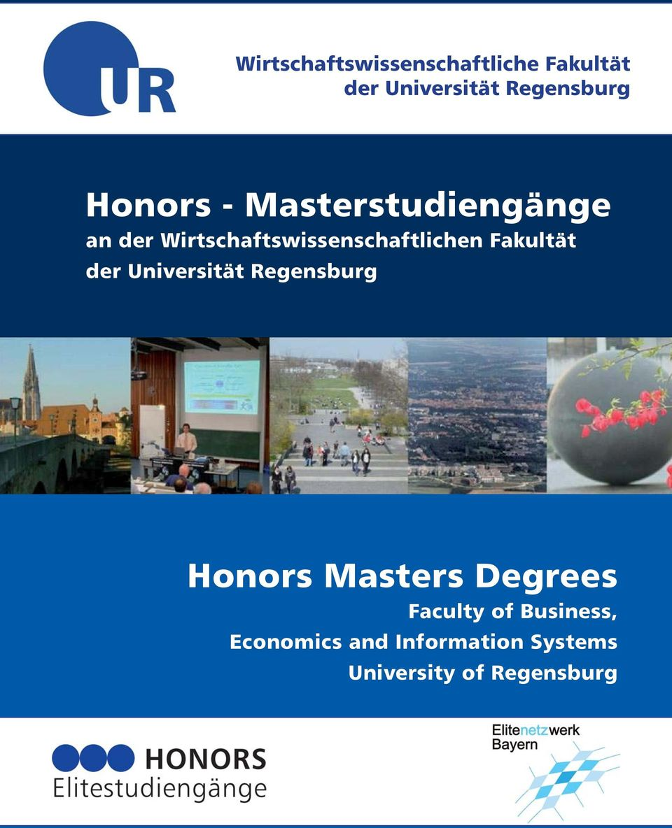 Fakultät der Universität Regensburg Honors Masters Degrees Faculty